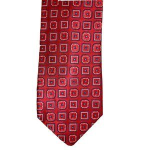 Jos. A. Bank Signature Red Foulard Silk Tie